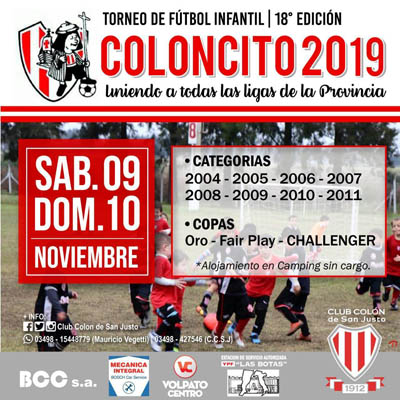 coloncito club colon san justo 2019
